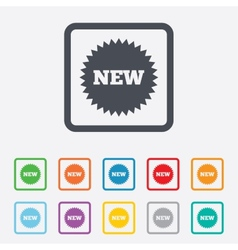 New sign icon new arrival star symbol vector