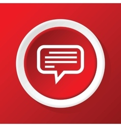 Message icon on red vector