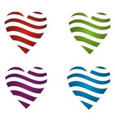 Dynamic color heart vector