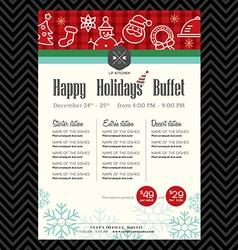 Christmas party festive restaurant menu design vector