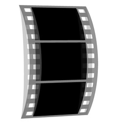 Transparent negative film strip vector