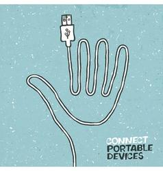 Connect portable device concept vector