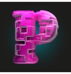Pink plastic figure p vector