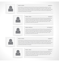 Website comments template vector