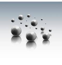 Spheres in motion on gray background vector