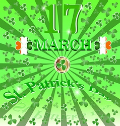 Decor ireland culture leprekon leaf mart celebrati vector