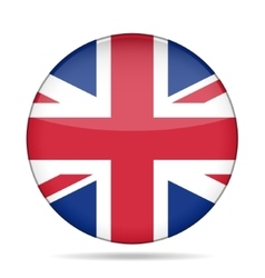 Button with great britain flag vector