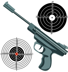 Firearm the gun against the target vector