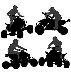Quadbike silhouette vector