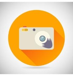 Photography symbol compact camera zoom icon on vector