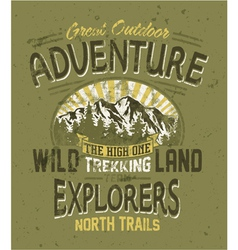 Great outdoor adventure vector