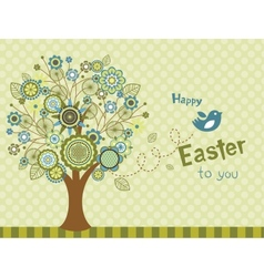 Happy easter bird - greeting card vector