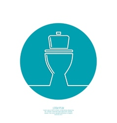 Toilet icon vector