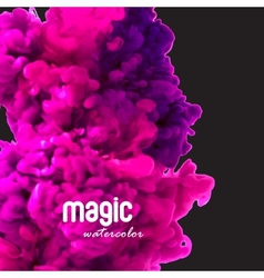 Magic watercolor swirling ink in water vector