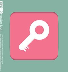 Key symbol icon vector