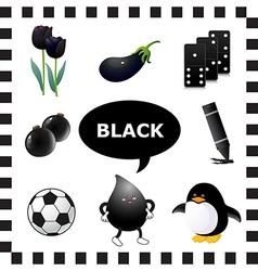 Black color vector