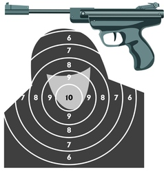 Firearm the gun against the target vector