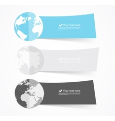 Set of flat banners vector