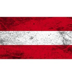 Flag of austria with old texture vector