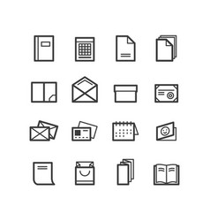 Printing house icons vector