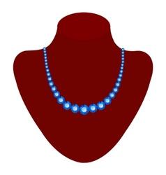 Blue necklace vector