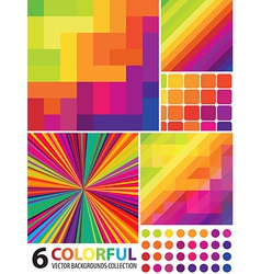 6 abstract colorful backgrounds vector