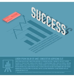 Success graph business background concept d vector