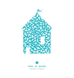 Abstract underwater plants house silhouette vector