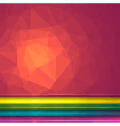 Poligon light effect background vector