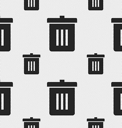 Recycle bin reuse or reduce icon sign seamless vector