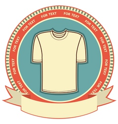 Retro t-shirt label vector