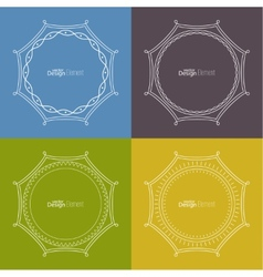 Set framework for multi colored backgrounds vector