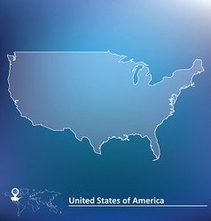 Map of united states of america vector