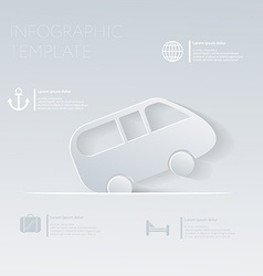 Car travel theme holidays template infographic or vector
