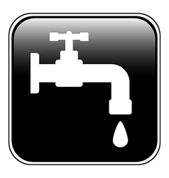 Water tap button vector