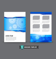 Flyer brochure background template 0006 gear vector