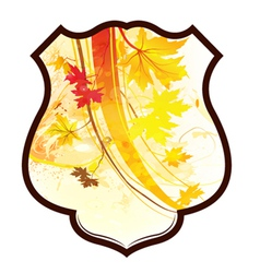 Shield with floral vector