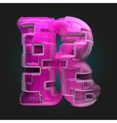 Pink plastic figure r vector