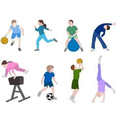 Children sport vector