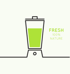 Natural juice vector