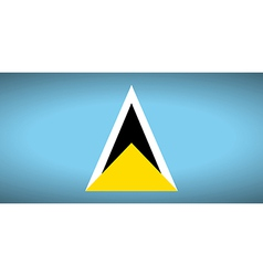Flag of saint lucia vector