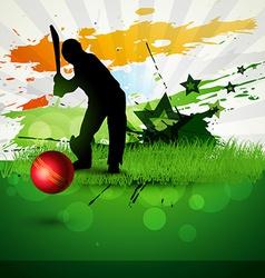 Cricket background vector
