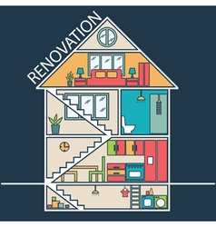 Renovation house remodelingflat design vector