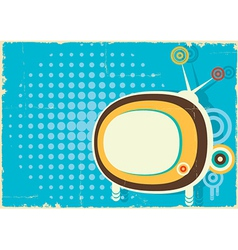 Retro television vintage poster on old paper vector