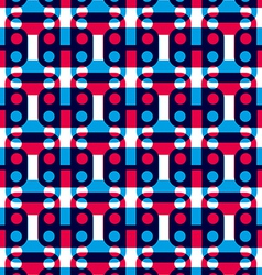 Polka dot seamless pattern with geometric figures vector