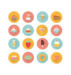 Icons dessert vector