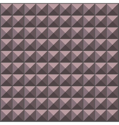 Wall with lavender gray pyramid tiles pattern vector