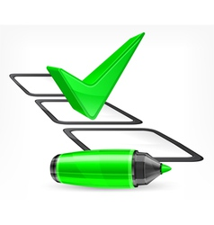 Voting felt tip pen green vector