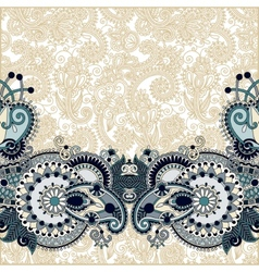Paisley design on decorative floral background for vector