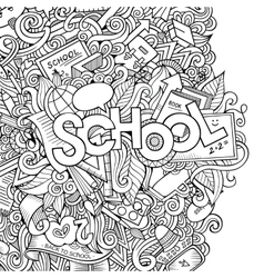 Cartoon school sketch background vector